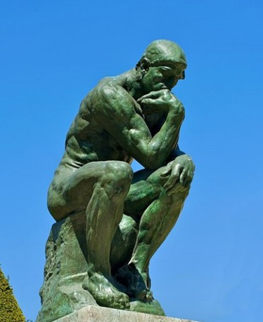 The Thinker Image by Daniel Stockman via Wikipedia