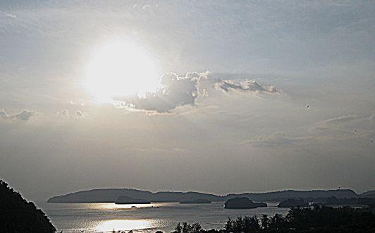 sunset krabi white